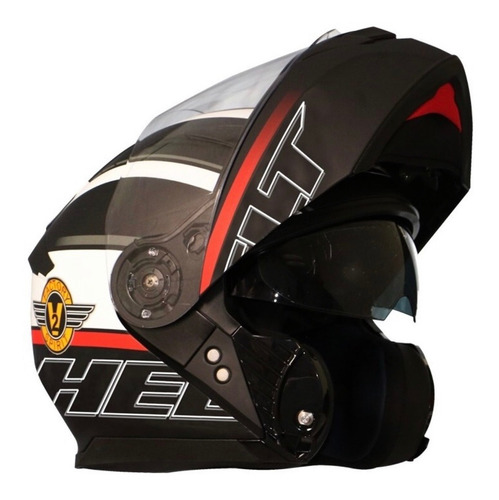 Capacete Para Moto Helt Hippo Glass Spirit 58 Pto Fosco
