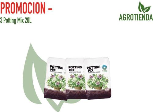 Promoción - 3 Potting Mix 20l - Sustrato Orgánico Bioterra