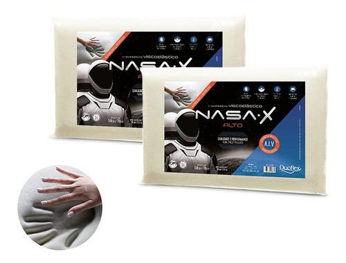 Kit Com 2 Travesseiro Nasa-x Alto Viscoelástico - Duoflex