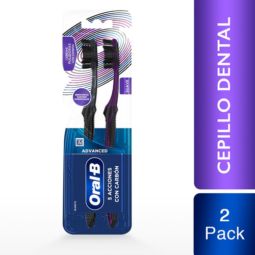 Cepillo Dental Oral-b® Advanced 5 Acciones Con Carbón 2 Pack
