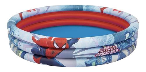 Pileta Inflable Redonda Bestway Marvel Ultimate Spider-man 98018 De 122cm X 30cm 200l