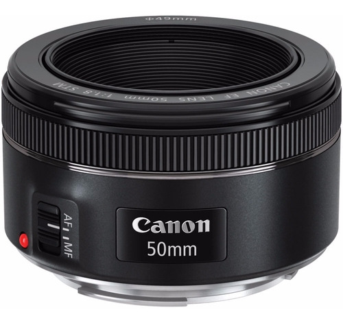 Lente Canon Ef 50mm F/1.8 Stm + Filtro Uv Brinde + Nf