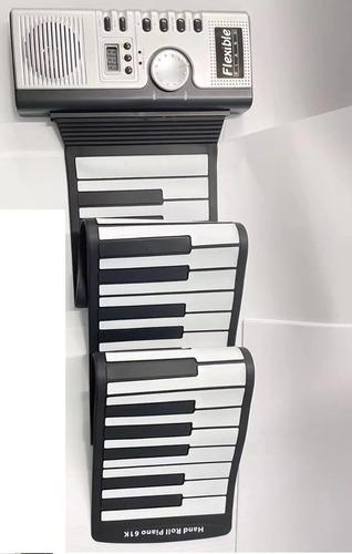 Piano Musical 61 Teclas Flexível Borracha Portátil Teclado