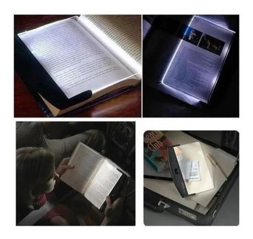 Luminaria Para Livro Luz Led Leitura Placa Portátil Viagem