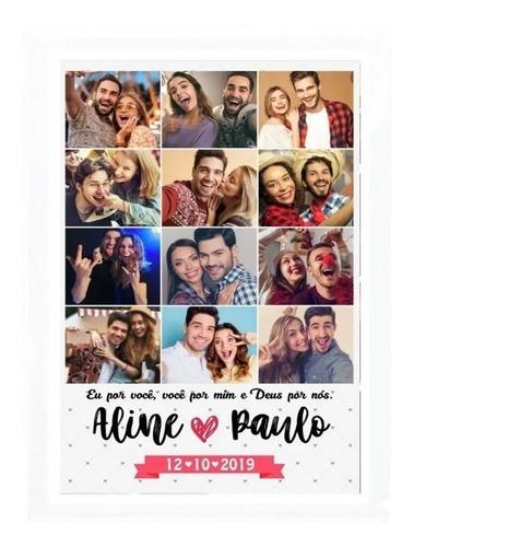 Presente Dia Dos Namorados Quadro Personalizado Com Foto