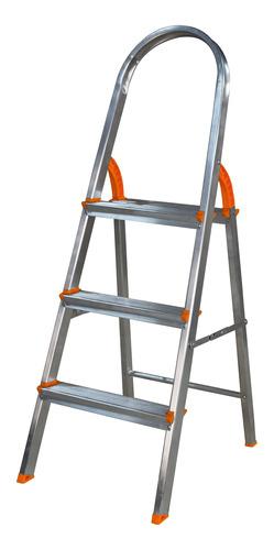 Escada 3 Degraus Aluminio Domestica Agata