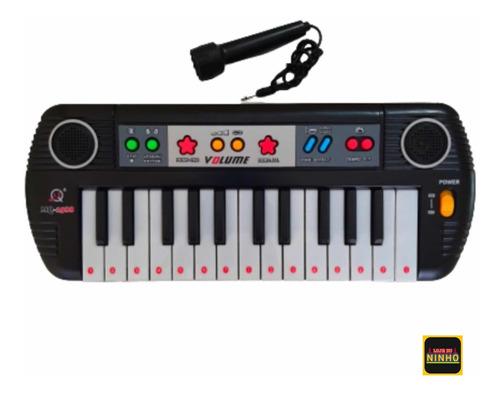 Piano Teclado Musical Infantil Crianças Com Microfone Novo