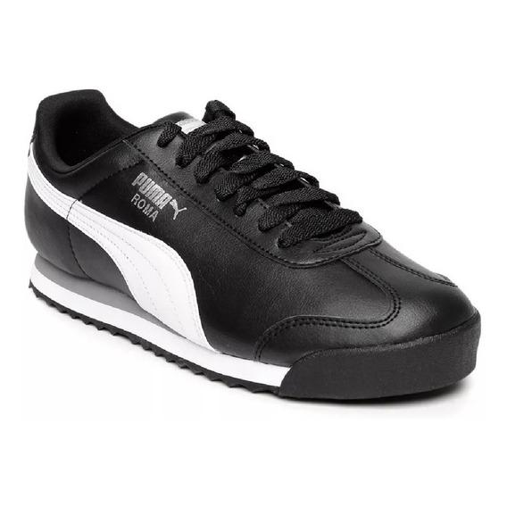 Zapatillas Puma Roma Basic Hombre - Negro