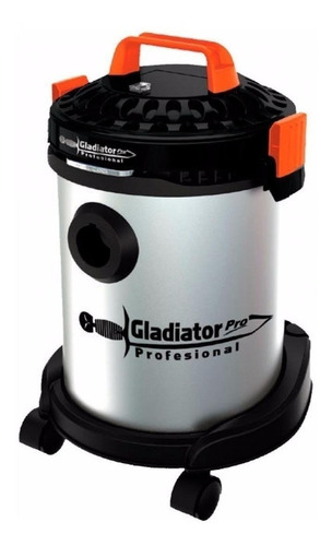 Aspiradora Gladiator Pro A712 12l  Acero Inoxidable, Gris Y Naranja 220v