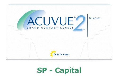 1 Cx Lente Contato Acuvue2 Lentes P/ Miopia Ou Hipermetropia