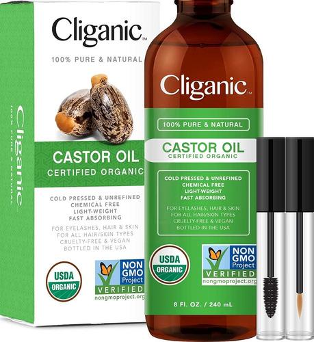 Aceite De Ricino Orgánico 100% Puro Crecimiento De Pestañas