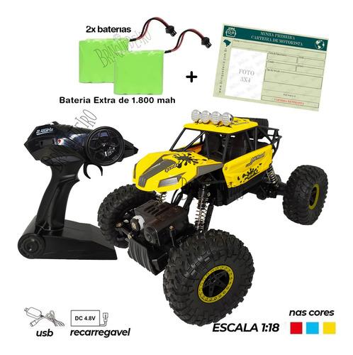 Carrinho 4x4 Rock Crawler Off Road Forte Tipo Gasolina Kit