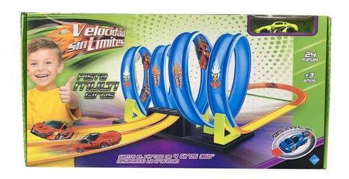 El Duende Azul Pista Autos Acrobatica Multi Giros Art 6308