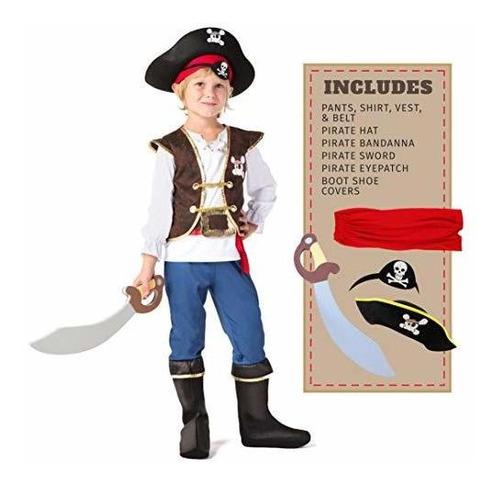 Disfraz De Pirata Para Niños De Spooktacular Creations Para