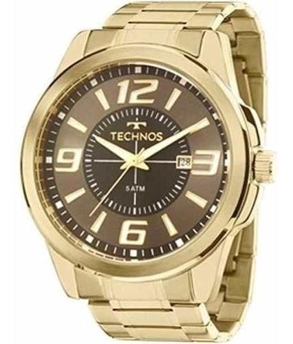 Relógio Masculino Dourado Technos 2115laa/4c Performance.