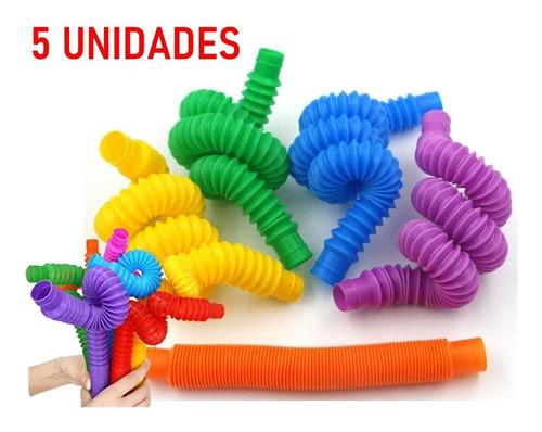 Pop Tube Tubo Fidget Toy Descompressão Sensorial Anti Stress
