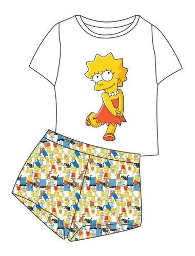 Pijama Curto Lisa Simpson