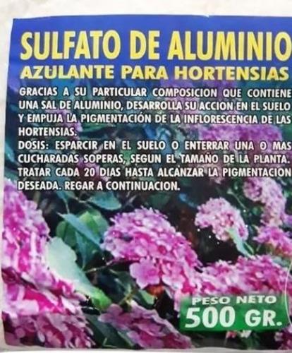 Sulfato De Aluminio Azulado Hortensias