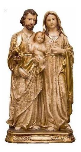 Imagem Sagrada Família 20cm Dourada - Pó De Mármore Ac