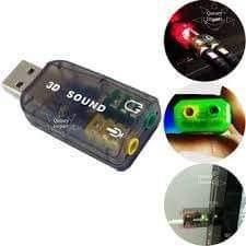 Tarjeta De Audio Y Micrófono Usb Para Laptop O Pc.