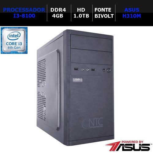 Computador Pc I3 4133 Price As8g (i3-8100 /4gb/hd1tb/ddr4)