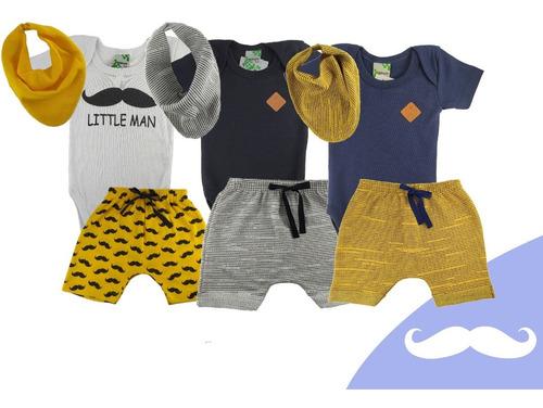 Kit 3 Roupas De Bebê Menino Body Macio Tipo Carters Barato