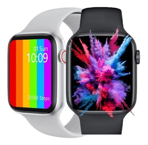 Relogio Smartwatch Iwo W46 Foto Personalizada Tela Infinita