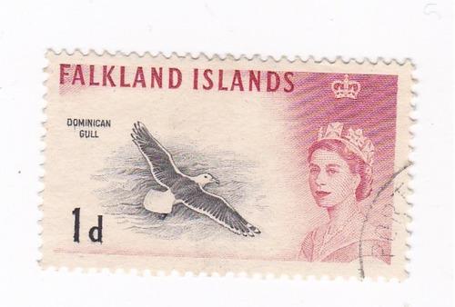 Lt300. Sello De Las Islas Malvinas De 1960.