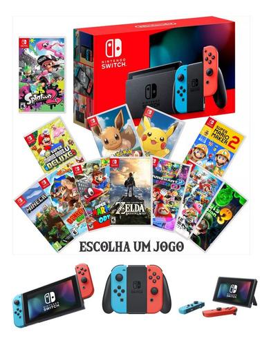 Nintendo Switch Neon E Jogo A Escolher Pokemon Zelda Mario