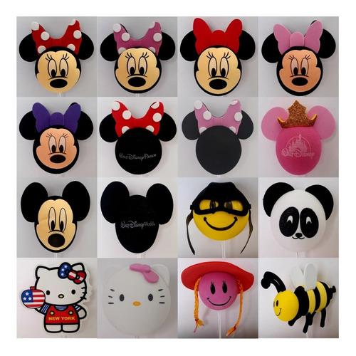 Ponteira Enfeite Antena De Carro Disney Mickey Minnie Varios