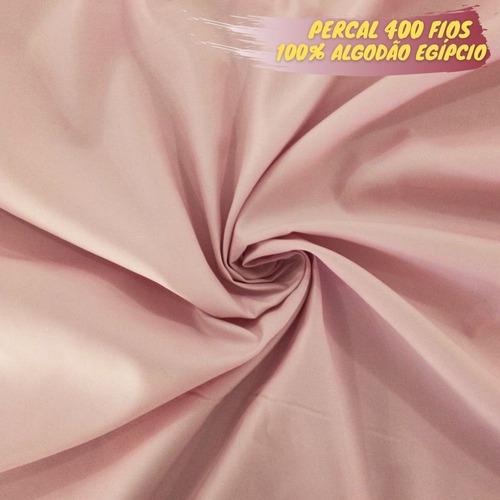 Tecido Percal 400 Fios 100% Algodão Egipcio 1,00 X 2,50 Mts