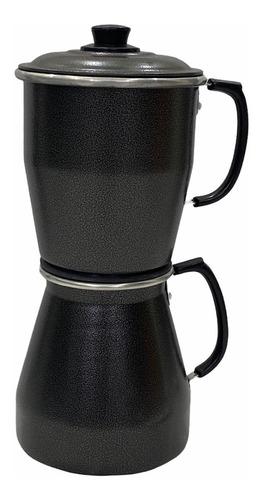 Cafeteira Aluminio Craqueada Cafeteira Econômica Preta 1,5l