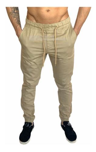 Calças Jeans Camuflada Masculina Jogger Com Elastico