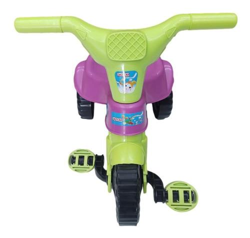 Motoca Triciclo Infantil 3 Roda Bicicleta Rosa Azul Vermelho