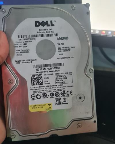 Hd Para Pc Dell 250gb Funcionando Perfeito Envio Imediato