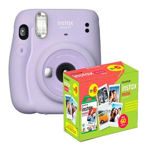 Câmera Instantânea Fuji Instax Mini 11 Lilás+filme 60 Fotos