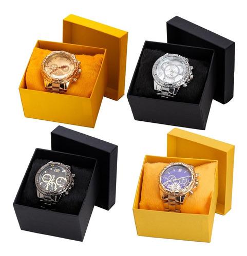 Kit 5 Relógios Luxo Masculino Atacado  Revenda + Caixa Luxo