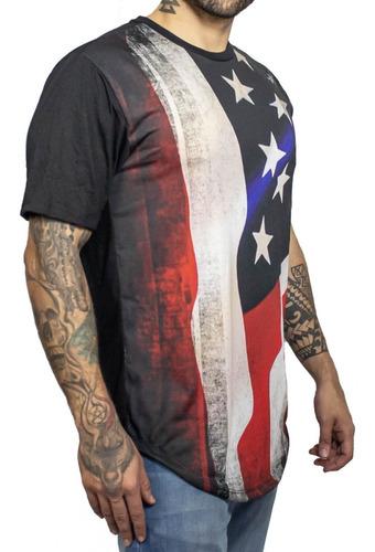 Kit Com 5 Camisetas Masculinas Long Line Escolha A Estampa