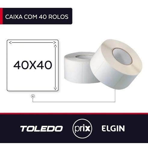 Etiqueta 40x40 Balança Toledo Prix4 Uno - Prix5 -  40 Rolos