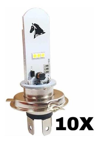 Lampada Moto H4 Led Efeito Xenon 8000k Cg Cb Xre 10 Unidades