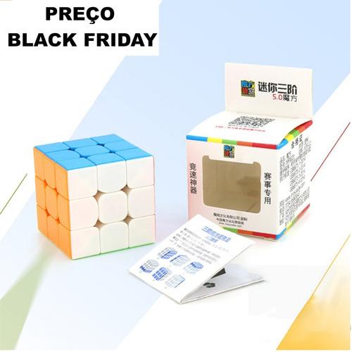 Cubo Mágico 5cm 3x3x3  Moyu   Stickerless + Base   + Bag
