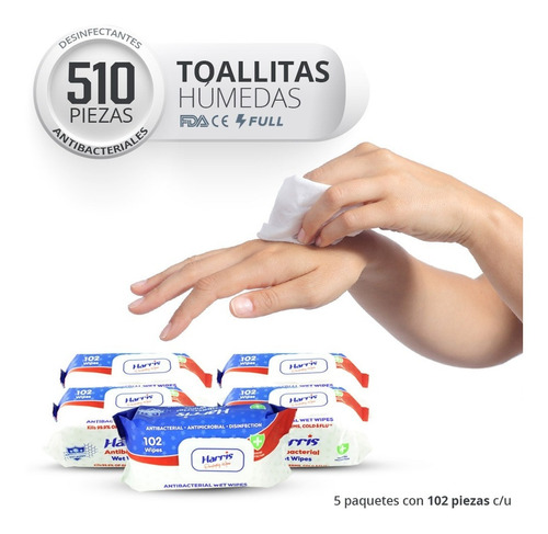 Toallitas Desinfectantes Antibacteriales Toallas Húmedas