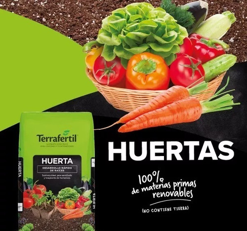 Sustrato Para Huerta Terrafertil 50dm3