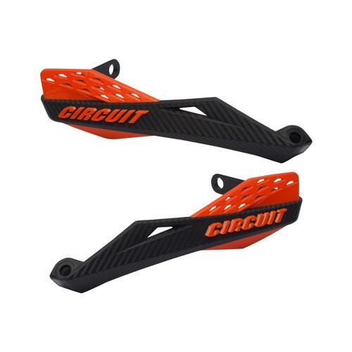 Protetor De Mão Circuit Fenix Carbono Guidão Alumínio Fat Bar Crf 230, Ttr 230, Bros, Crosser, Xt 660, Lander, Xre, Xtz