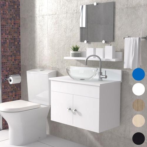 Gabinete Armário Duplo Banheiro Espelho/cuba Sevilha Acrd 60