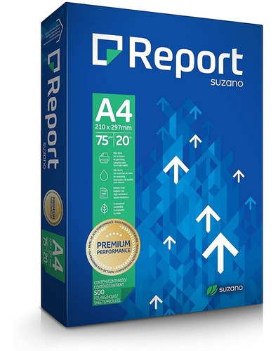 Papel Sulfite Report Premium A4 75g - 500 Folhas