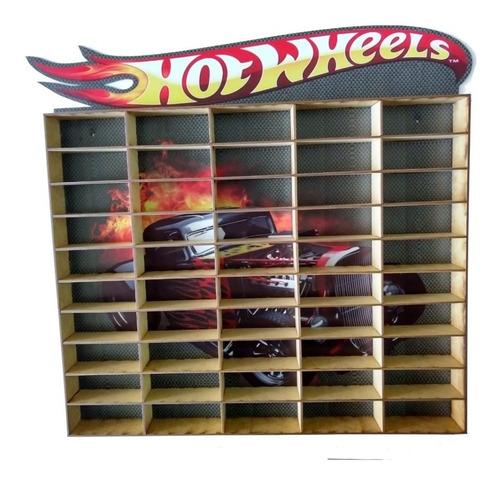 Hot Wheels Estante Porta Carrinho Para 50 Und Mdf Adesivado