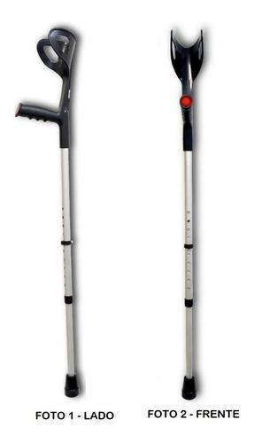 Bengala Muleta Canadense Regulável Altura Braço 120kg 1 Unid