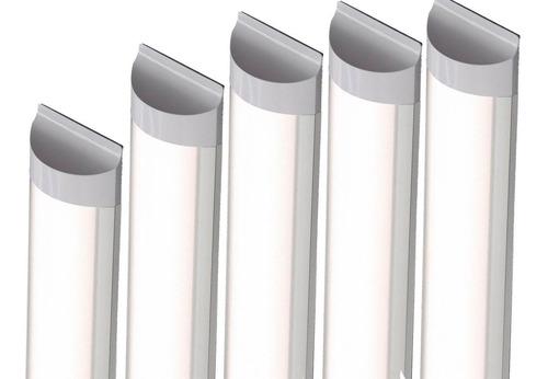 Kit 10 Luminaria Tubular Led 40w Lampada Calha Sobrepor 1,20