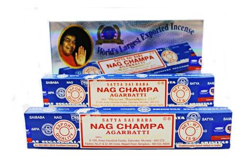 Incenso Satya Nag Champa Massala Premium Box C/ 12 Caixinhas